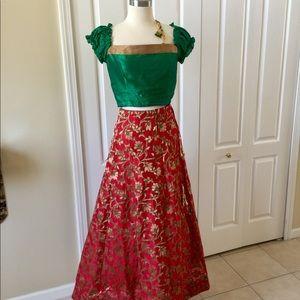Skirt with blouse Choli silk set Indian wedding
